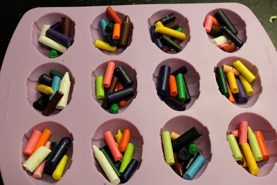 Making Egg Crayons