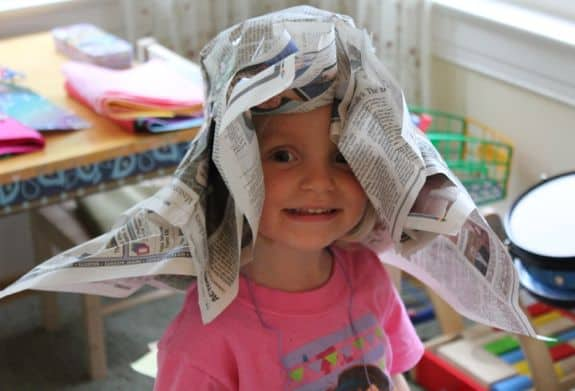 Diy Newspaper Derby Hat For Kids Helloglow Co