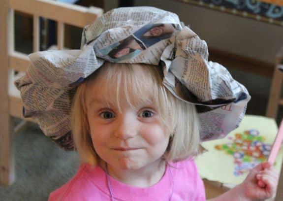 DIY Newspaper Derby Hat | HelloGlow.co
