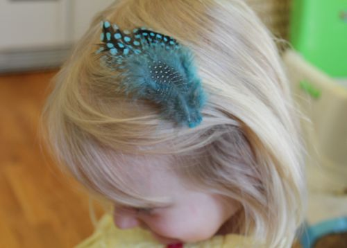 DIY Feather Hair Clips | HelloGlow.co