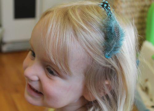 DIY Feather Hair Clips | HelloGlow.co
