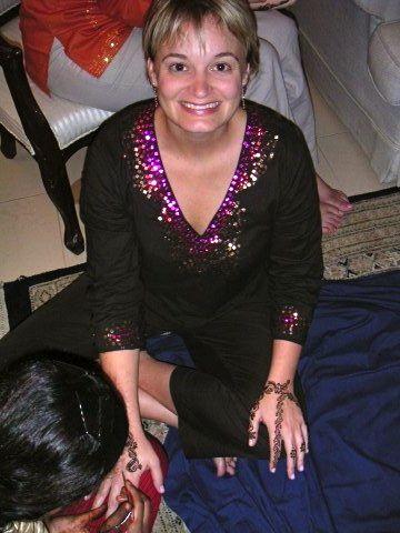 henna smiling pakistani wedding