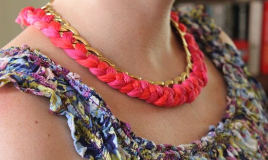 DIY Woven Chain Necklace | HelloGlow.co