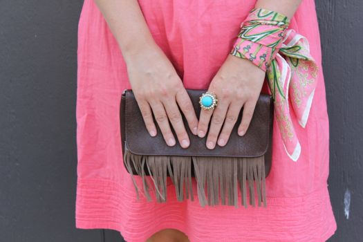 diy fringe shoes + clutch