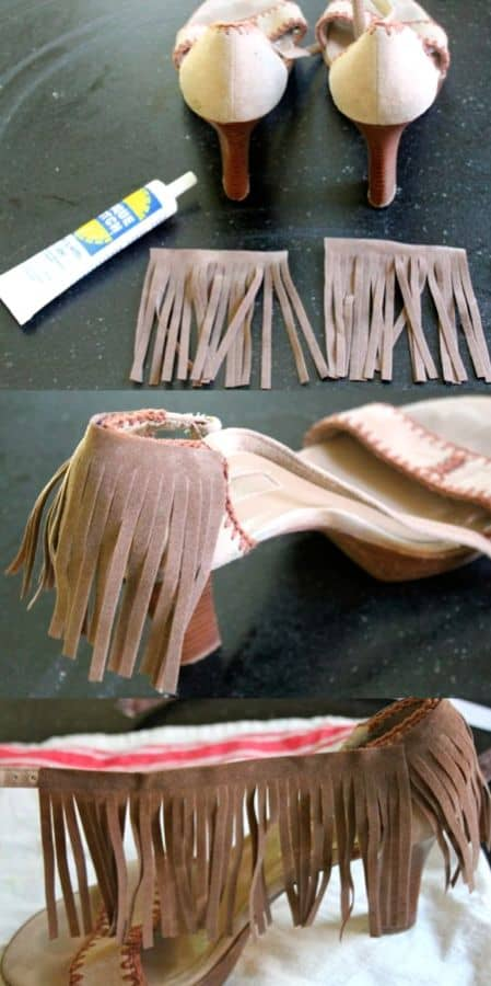 DIY Shoes with Fringe | HelloGlow.co