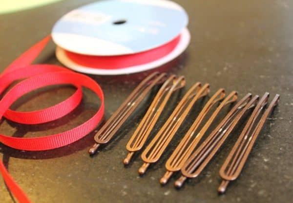 make ribbon bobby pins