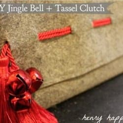 DIY holiday clutch: Jingle Bell + Tassel