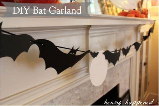 paper crafts for halloween: diy bat garland {free download!}