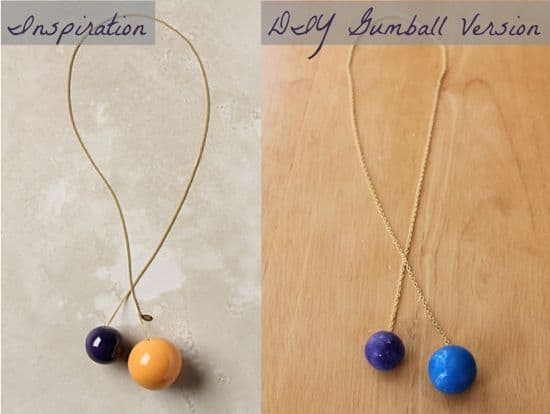 DIY gumball necklace