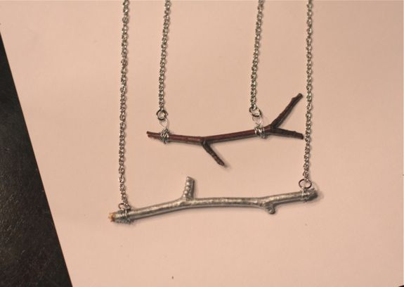 DIY Twig Necklace | HelloGlow.co