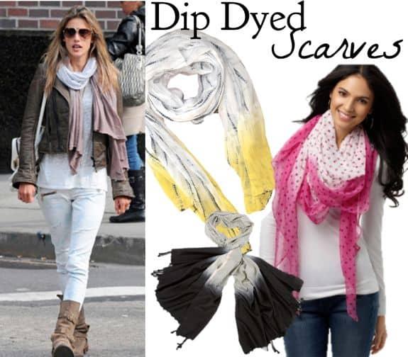 DIY Dip Dye Scarf | HelloGlow.co