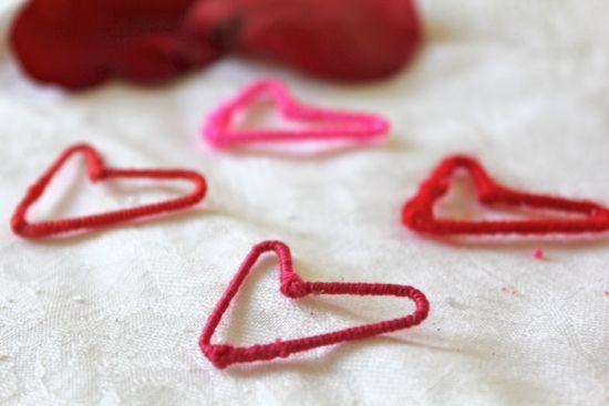 DIY Paper Clip Heart Earrings | HelloNatural.co