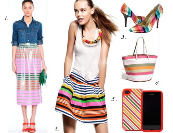 how to wear colorful stripes