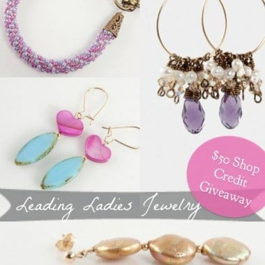 $50 Leading Ladies Jewelry Giveaway + Blog Update