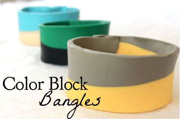 DIY Colorblock Bracelets | HelloGlow.co
