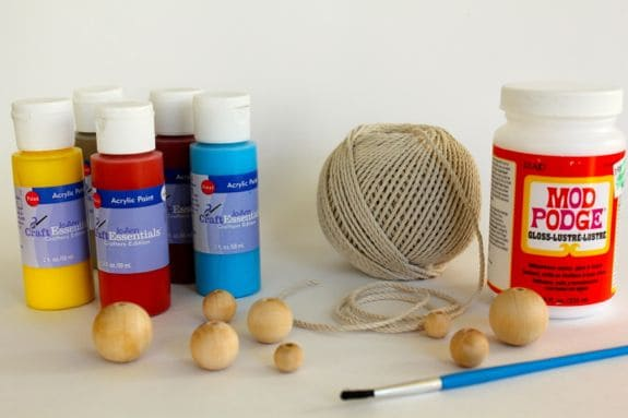 wooden bead necklace supplies