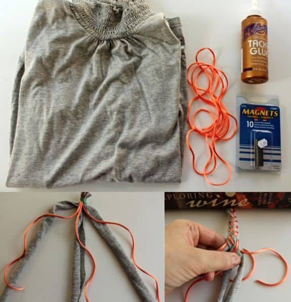 Braided T-Shirt DIY Bracelets   HelloGlow.co