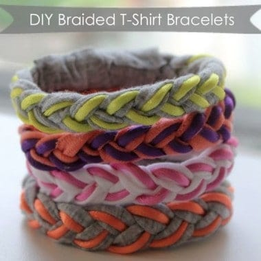 DIY Braided T-Shirt Bracelets