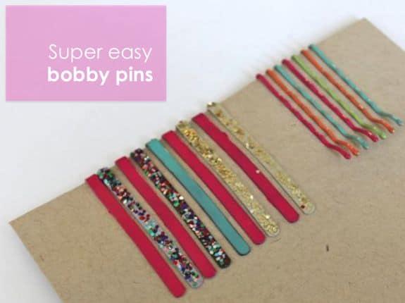 DIY Bobby Pins - Neon, Glitter & Sparkle