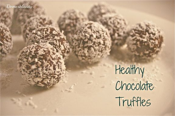 Recipe | Healthy Chocolate Truffles