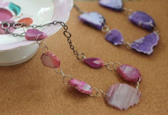 pink DIY necklace