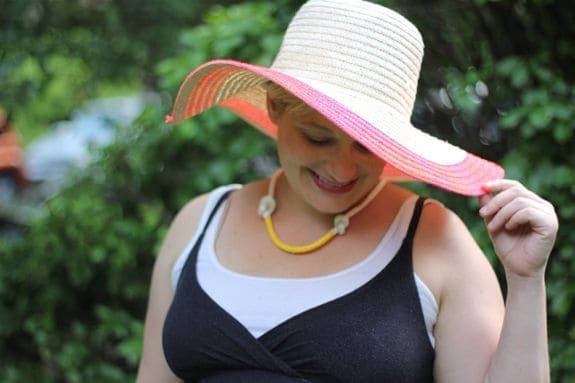 hat & maxi dress