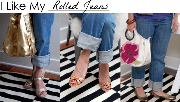how to wear rolled jeans