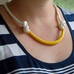 DIY Nautical Painted Rope Necklace