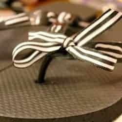 DIY Ribbon Flip Flops