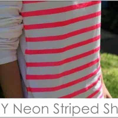 neon striped shirt