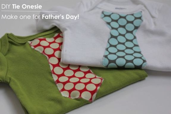 DIY tie onesie for Father's Day
