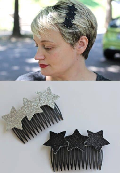 DIY sparkly star headband