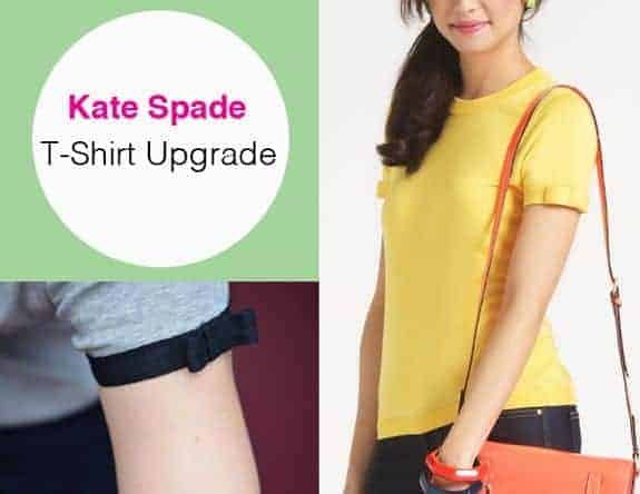 DIY Kate Spade T-Shirt Upgrade