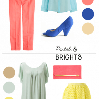 How to Wear Brights and Pastels Together