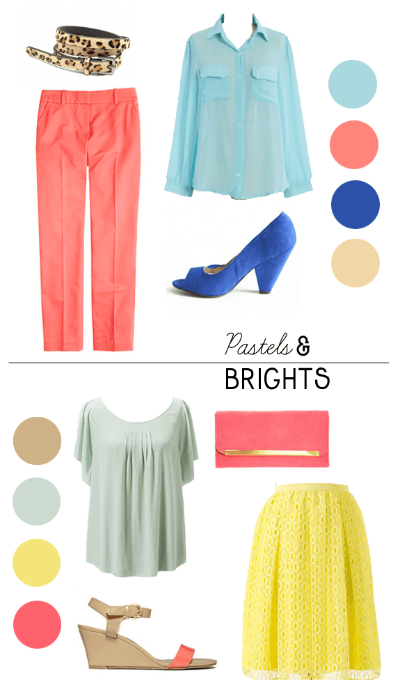 brights and pastels