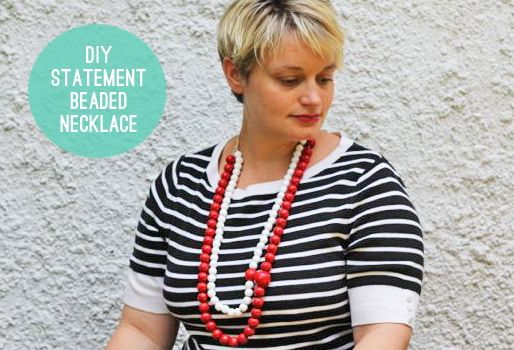 DIY statement beaded neckace