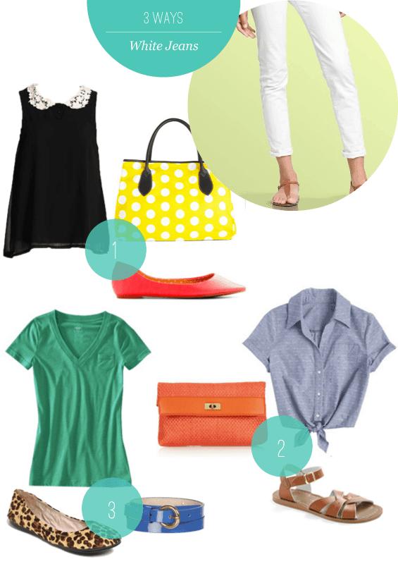 3 Ways to Style White Jeans | HelloGlow.co