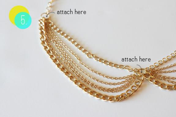 make diy chain collar necklace