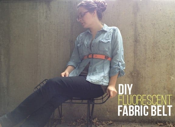 DIY Fluorescent Fabric Belt