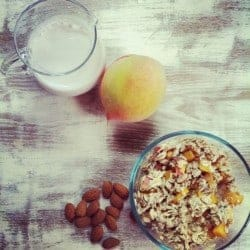 Peach Almond Overnight Oatmeal + 2 More Skinny Girl Recipes