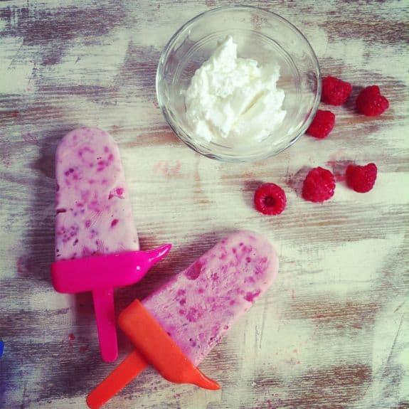 Raspberry Greek Yogurt Pops