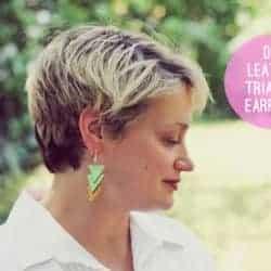 DIY Leather Triangle Earrings