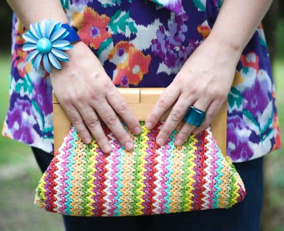 Colorful clutch - Hello Glow