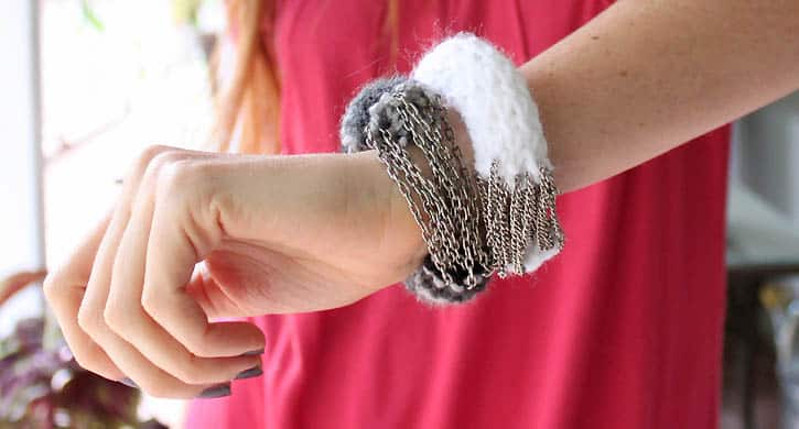 DIY Anthropologie purl one bracelet - Crochet Clouds