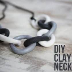 DIY Clay Chain Necklace