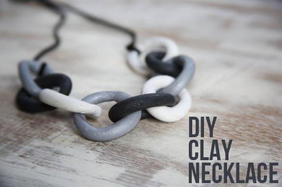 DIY clay chain necklace