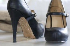 DIY glittery soles