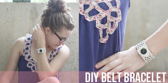 DIY belt bracelet tutorial