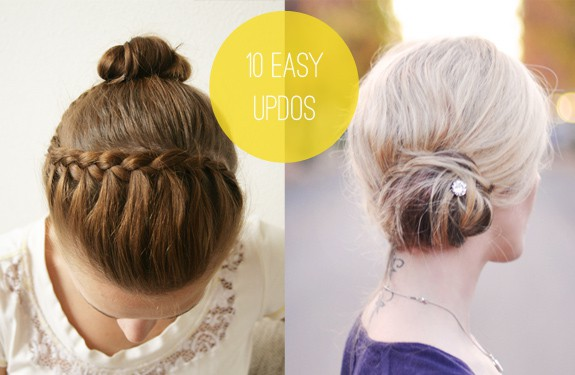 Tuesday Ten 10 Easy Hairstyles You Can Actually Do With 2 Hands ...