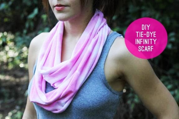 DIY T-Shirt Infinity Scarf + Head Wrap (no sew!)